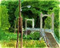 中ノ島公園のつり橋