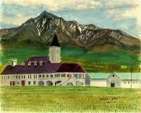 焼酎工場と斜里岳
