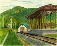 雨宮号車庫と駅