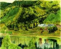 置戸湖とメモリーハウス