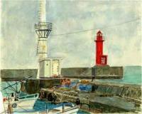 雄武港の灯台