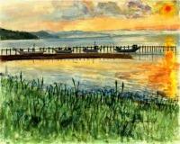 サロマ湖キムアネップの夕日