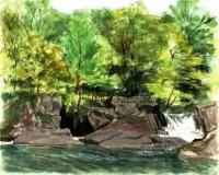 村名発祥の滝