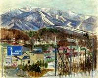 北大雪スキー場のみえる風景